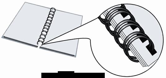 Переплет на металлическую пружину своими руками